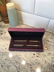 Asprey London Sterling Silver Pen And Pencil Boxed