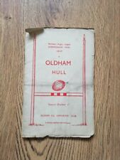 More details for oldham v hull may 1957 northern championship final rugby league brochure
