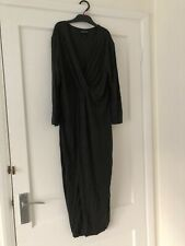 Isabella Oliver Size 4 Charcoal Grey Maternity Dress