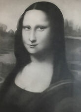 Gorgeous Pencil Drawing Mona Lisa by Tom Sawyer - Printer's Proof Offset Litho