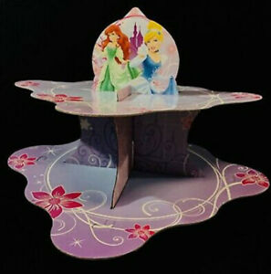DISNEY PRINCESS  Birthday party cupcake treat SNACK STAND table decor 2 tiers