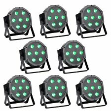 8pcs Wedding DJ DMX PAR Can Stage Light RGBW LED Color Mixing Wash Effect 75W