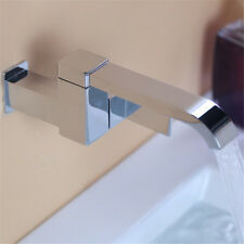 Square Bathtub Tub Spout Filler with Handle Adjustable Basin Faucet Wall Mount