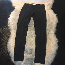 Helmut Lang New York Black Legging Pants Size 0 Made In USA