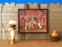 Tapete Custom Diorama Schloss Steck Mittelalterliche Playmobil Krippe Figur No