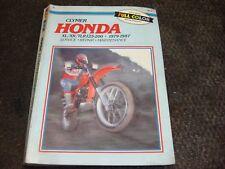 CLYMER HONDA XL XR TLR 125-200 1979-1987 SERVICE REPAIR BOOK GUIDE MANUAL