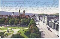 557 Stuttgart Schlossplatz mit Königsstrasse 1914 Ansichtskarte Baden Württember