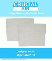 2 Replacements Aprilaire 35 Paper Wick Humidifier Water Pad Filters