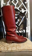 VINTAGE FRYE USA CAMPUS RIDING BOOTS cognac LEATHER BOOTS SIZE 7B