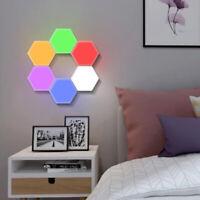 LED Modular Touch Quantum Hexagonal Wall lamp Light Sensor Fixture Colorful