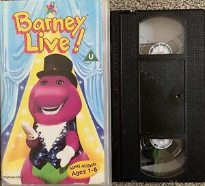 BARNEY LIVE IN NEW YORK CITY-VHS VIDEO (EX RARE)