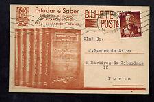 1946 Portugal  Postcard cover to porto Book Seller