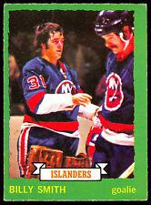 1973 74 OPC O PEE CHEE #142 BILLY SMITH EX+ RC N Y ISLANDERS HOCKEY ROOKIE CARD
