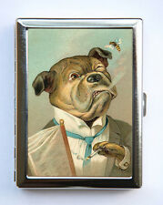 BullDog Smoking Cigarette Case Wallet Business Card Holder anthropomorphic
