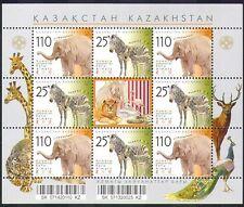Kazakhstan 2007 Zoo/Elephant/Zebra/Animals/Nature/Wildlife 8v shtlt (n38512)