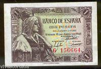 1 peseta 1945 Isabel la Catolica @@ Sin Circular @@