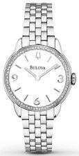 Bulova 96R181 Diamond Gallery Stainless Steel White Dial Ladies Watch
