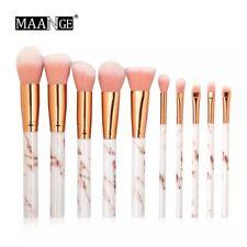 Brush Makeup Designed Brand Mac set Blush eyeliner Gold  Pink Professional 10pcs