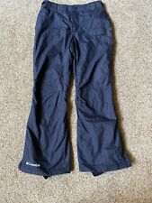 COLUMBIA Womens Sz Small Black Design Convert Lined Ski Snow Snowboard Pants EUC
