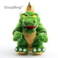 Super Mario King Koopa Bowser Plush Toy Stuffed Animal Doll 12 inch Green Teddy
