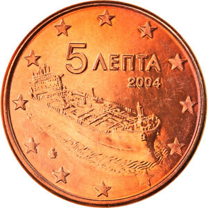 [#819923] Grèce, 5 Euro Cent, 2004, Athènes, FDC, Copper Plated Steel, KM:183