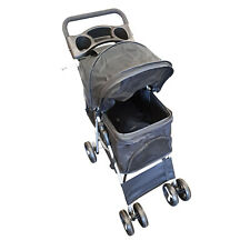 PET STROLLER 'DELUXE' FOLDING DOG PUPPY PUSH CHAIR CAT motorhome caravan boat