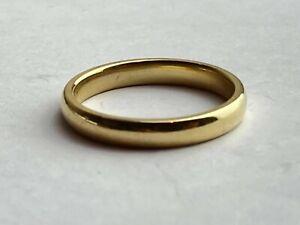 "9ct Yellow Gold Wedding Ring, Approx Width Size 3mm UK ""K 1/2"" Ship Worldwide"