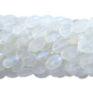 White Rainbow Moonstone Beads Oval Approx 5 x 7mm-7 x 9mm Strand Of 30+