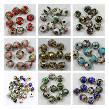Wholesale Beautiful Cloisonne Enamel Round Spacer Beads 50pc 8mm /20pc 10mm