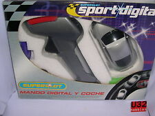 SUPERSLOT H7012 COMANDO CONTROLER+AUDI TT ARGENTO SPORT DIGITAL SCALEXTRIC UK MB