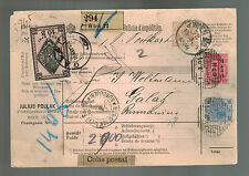 1894 Vienna Austria parcel Cover to Galat