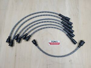 Chevy 216 235 7mm Cloth Covered Spark Plug Wire Set Vintage Wires Inline 6 Gray