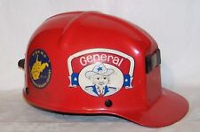 West Virginia Coal Miner's Red MSA Comfo-Cap w Liner & Stickers. 1982 Date Noted