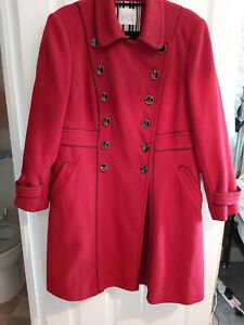 Milatry Style Coat Cherry Red Size 18 Principles