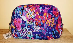 New VERA BRADLEY Large Zip  IMPRESSIONISTA Cosmetic Bag - 14269-297 - RETIRED