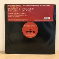 "Dionne Rakeem - Sweeter Than Wine Unreleased Mix 12"" UK Garage Vinyl Bump & Flex"