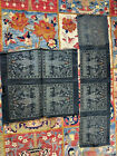 Antique 1900s Chinese Brocade Silk Square Panels Decorated With Dragons