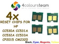 4x TONER RESET CHIPS (1set) FOR HP CC530A CC531A CC532A CC533A CM2320 CP2025