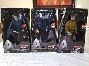 "Star Trek Cpt Kirk, Spock & McCoy 12"" Action Figure Lot Command Collection 2009"