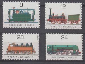 Belgium 1985 #1194-97 Public Transportation Year (Locomotives) - MNH