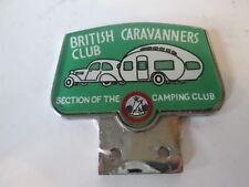 British Caravanners club grill badge. car badge. RAC. AA badge.camping club.