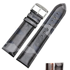 New 18mm 20mm 22mm Camouflage Leather Military Army Watch Strap Band Replacement