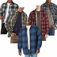 Men Wrangler Padded Shirt Sherpa Fur Lined Lumberjack Flannel Work Jacket Thick