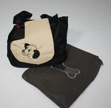 Hundetragetasche Modell Burcina von Ferribiella schwarz/beige 33x19x25cm bis 3kg