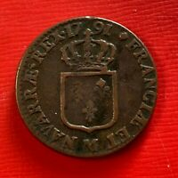 #5095 - Louis XVI Sol 1791 M Toulouse TTB