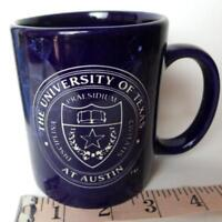 University of TEXAS Austin Coffee Mug Blue Logo Embossed UTA gift Student Parent