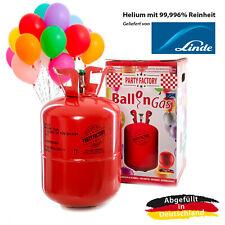 Ballongas Helium im Set mit 50 Luftballons, Einwegflasche