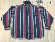 DUCK HEAD - Vtg 90s Mens Multi-colored Striped L/S Button-up Shirts, LARGE