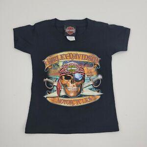 Harley Davidson Motorcycle Toddler Boys Shirt 2T Pirate T Shirt