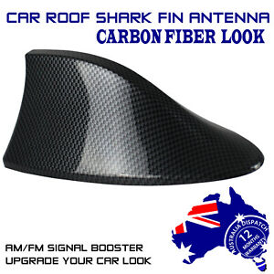 Carbon Fiber LOOK Shark Fin Car Aerials Antenna For NISSAN NAVARA NP300 X-Trail